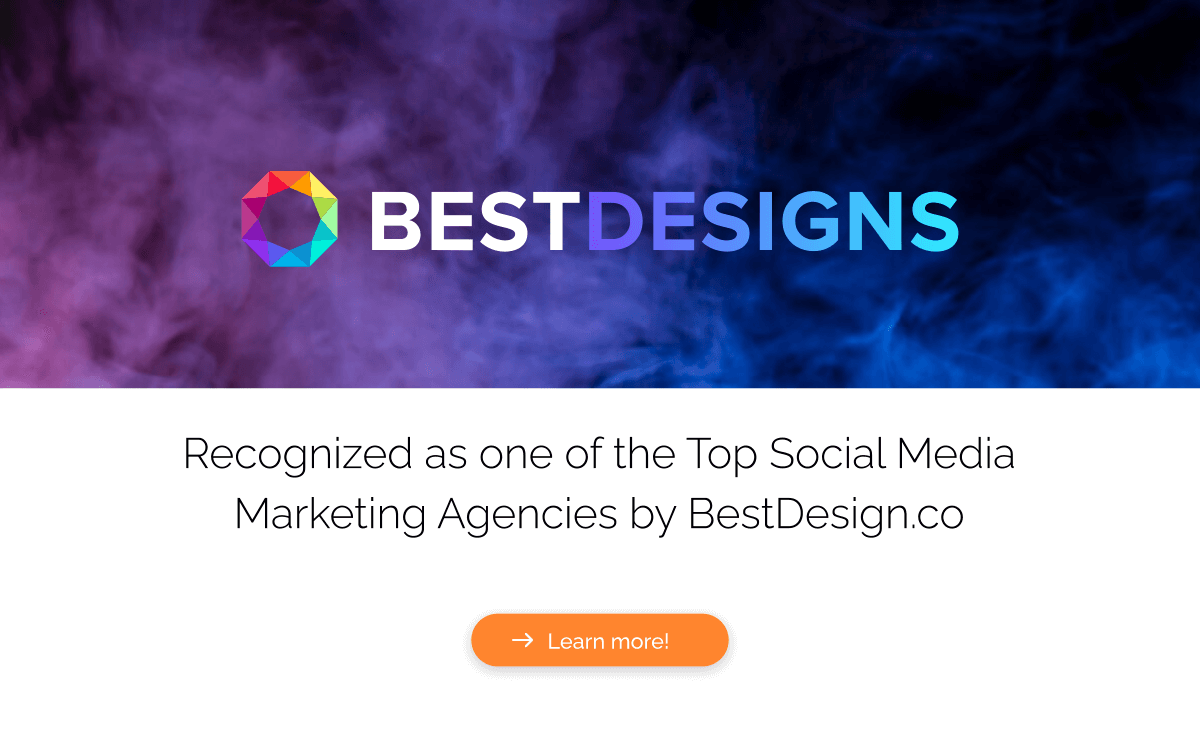 Recognized as one of the top social Media Marketing Agencies by BestDesigns.co